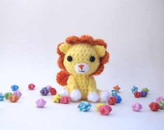 Crochet lion - Stuffed animal, amigurumi, Kawaii toy, lion plush, Gift ideas, Baby shower gift