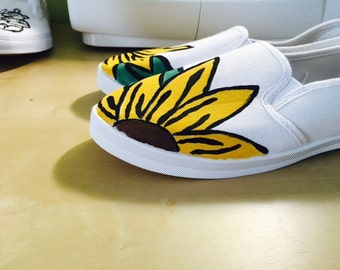 Custom Painted Sunflower Shoes