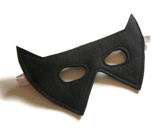 Bat Mask - Halloween Mask - Batman Mask - Superhero Mask - Black Felt Mask - Dress Up - Batman Costume - Halloween Costume
