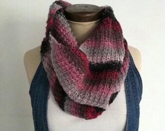 Knit Gradient Cowl/Neckwarmer/Infinity Scarf - FREE U.S. SHIPPING