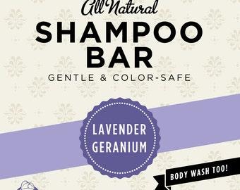 Lavender-Geranium Organic Shampoo Bar