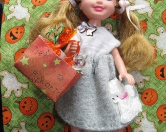 Barbie Chelsea Poodle Skirt Outfit 50's Retro Bobby Soxer Halloween Costume Clothes - NO DOLL
