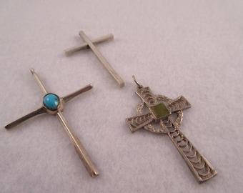 3 Silver Crosses