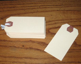 100 blank manila shipping tags small #2 size