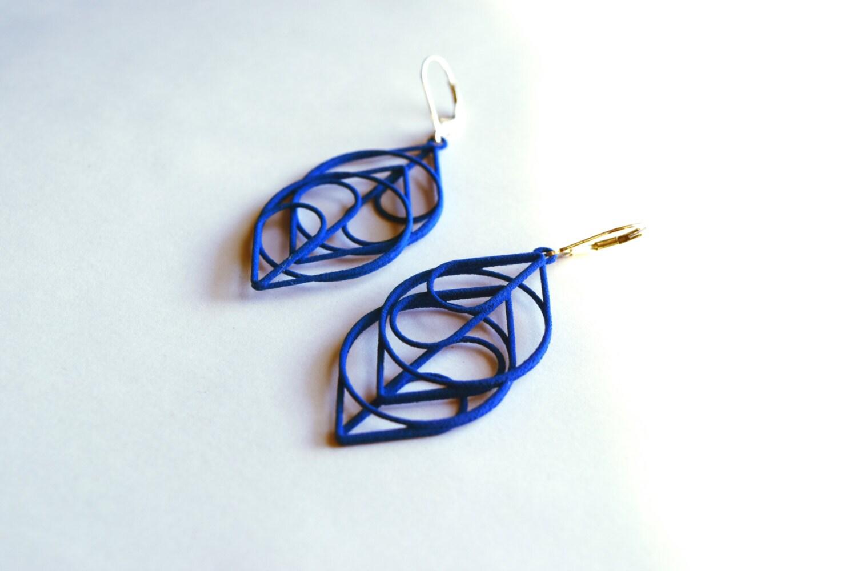 The Heart Modern Striking 3D Printed Earrings. Free