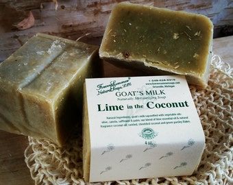 Lime in the Coconut Goat's Milk Soap