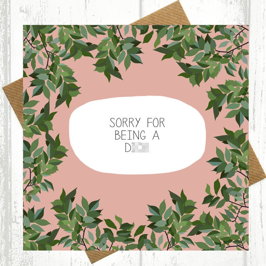 Funny apology card – Free Printable Apology Cards