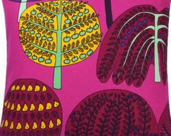 """Marimekko Isoisan Puutarha pink pillow case, 16x16"""", Finnish, Finland"""