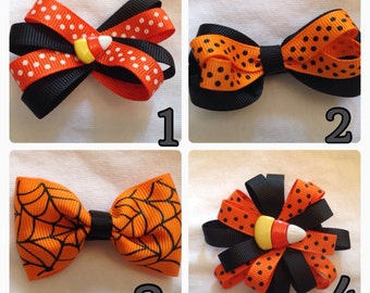 Halloween Hair Bows YOU PICK
