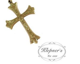 Edwardian Ornate Engraved Cross