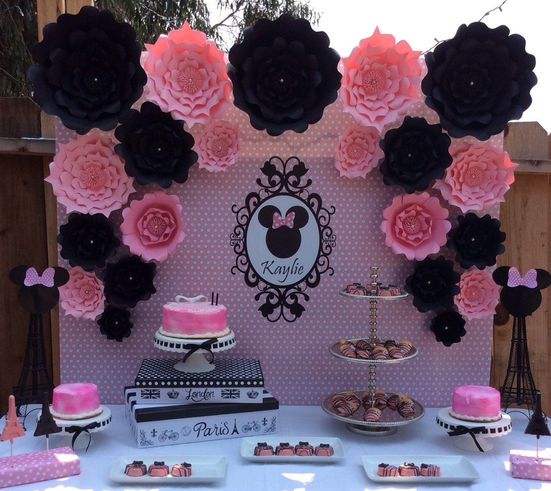 Diy Paper Flowers Wedding Arch: Large Paper Flowers-Backdrop-Wedding Arch-Photo Booth-Flower