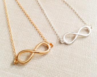 Infinity bracelet, love bracelet, forever, infinite, cute bracelet in gold, silver or rosegold
