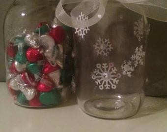 Winter Mason Jar Set for Guess the Quantity