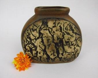 Vintage ceramic vase by Dümler & Breiden / brown / Fat Lava / 99 14 | West German Pottery | 60s