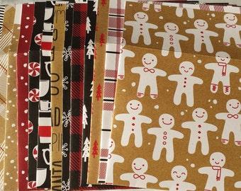 Set of 16 Festive Christmas Holiday Envelopes