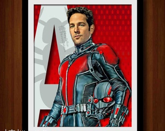 Ant-Man Superhero Digital Art Print