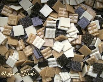 Vitreous Tiles - 20x20mm Chocolatto x 150pc