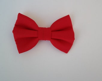 Red bowtie, infant, toddler bowtie. clip on bowtie