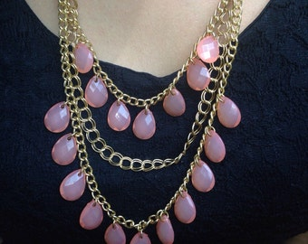 Gold & peach necklace