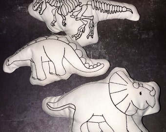 Dinosaurs Doodle Its Color Your Own Stuffie For Kids