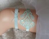 Mint green garter set lace garter modern garter Lolita prom bridesmaid bridal garter  burlesque  garter free ship