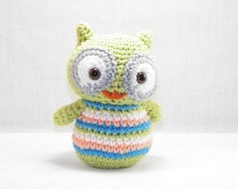 Baby Owl, Small Handmade Crochet Baby Owl, Baby Owl Stuffie, Baby Owl Stuffed Animal, Baby Owl Plushie, Adorable Stuffed Baby Owl