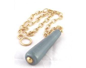 Ceramic Chain pull- blue