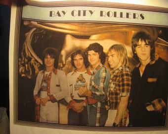 bay city rollers iron on decal,vintage 1970s-early 1980s excellent cond.