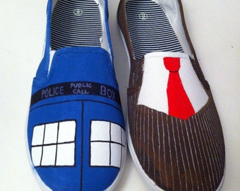 Doctor Who Sneakers - Tardis and Ten