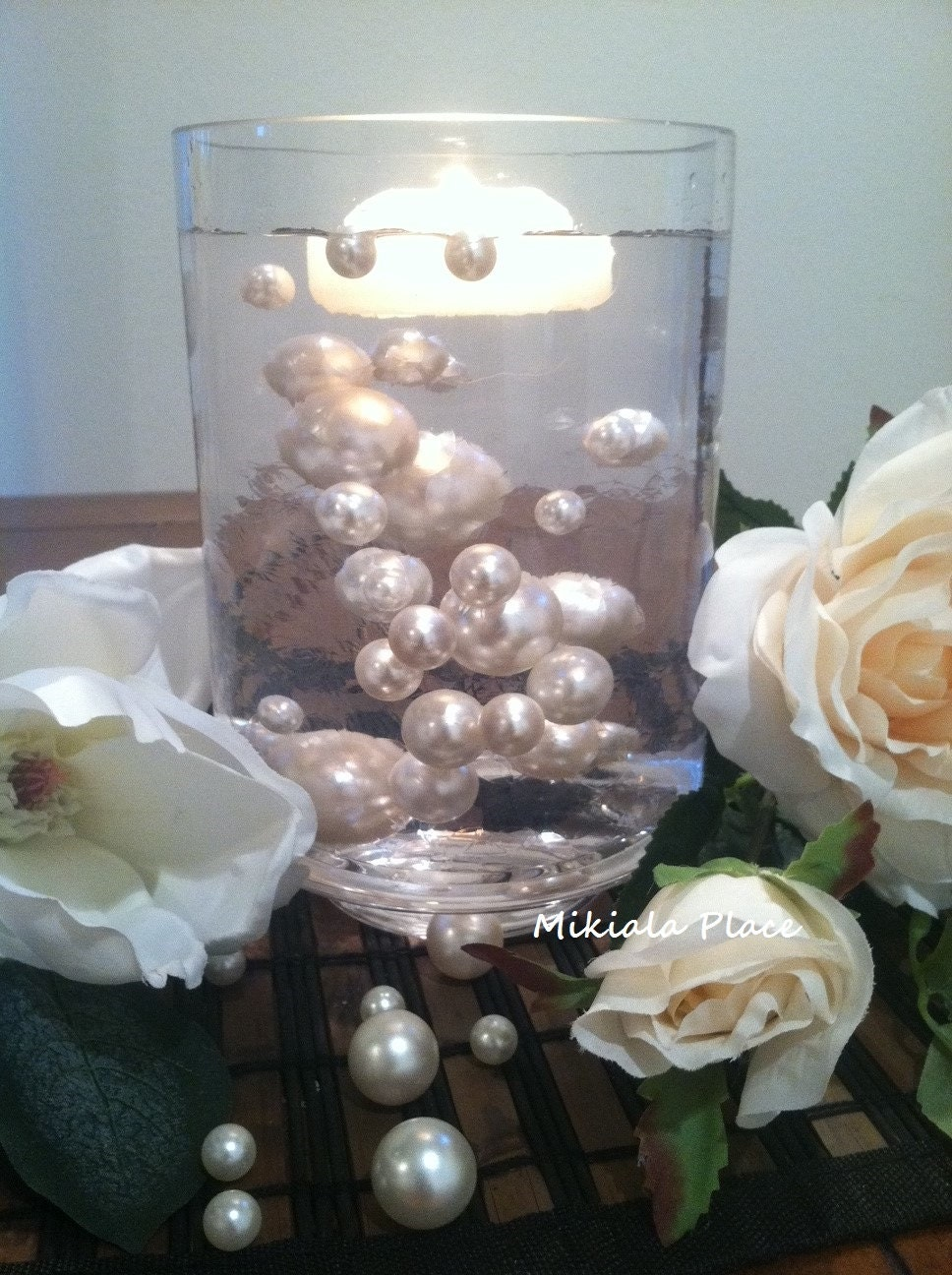 Ivory White Jumbo Floating Pearls For Vase Fillers Birthday