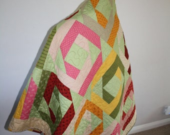 Jelly roll pineapple quilt