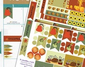 Thanksgiving Theme Planner Sticker Kit // Perfect for Erin Condren Planners