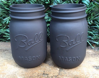 Black Matte Mason Jars
