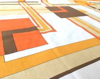 German vintage fabric geometric Love 50 x 150cm