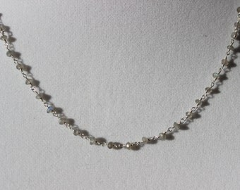Sale, Moonstone Necklace, Moonstone Wrap Bracelet, Gemstone Necklace, Chain Necklace, Beaded Necklace, Beaded Bracelet, Gemstone Bracelet