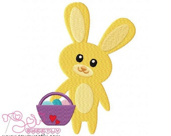 Easter Bunny And Egg-4 Embroidery Design.