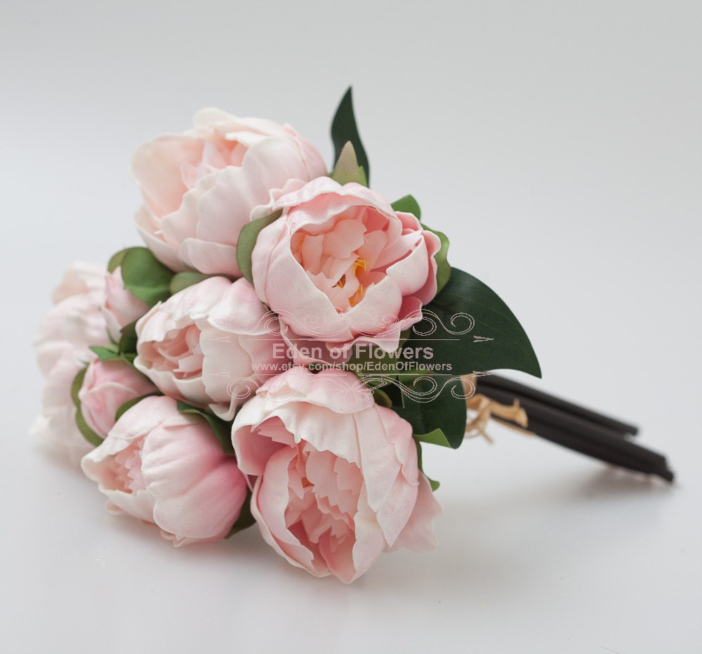 Pink Peony Bouquets Real Touch Flowers For Wedding Bridal