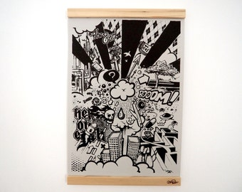 """Serigraph """"End of the world"""" by Index"""