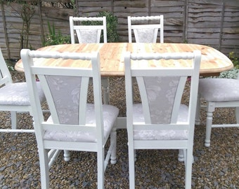 Shabby chic pine table & Chairs