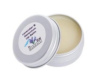 Lavender & Geranium Lip Balm (Vegan)