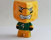 Wisconsin CheeseHead Vinyl Toy collectible, Office desk decor, Green Bay Packers Football fan, gift for him, designer toy