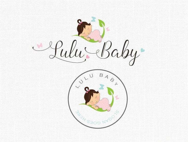 Premade Baby Logo Design Boutique Logo Children Logo Baby Girl