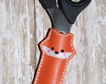 Fox Scissor Sleeve Embroidery Machine Design for the 5x7 hoop