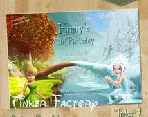 Tinkerbell Birthday Party Invitation - Digital File - Printable - Neverland - Fairy Invite