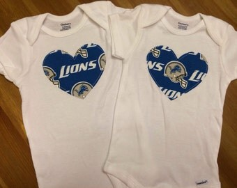 Detroit Lions Heart Onesie