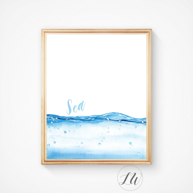 Beach house decor sea art print ocean ocean water print for Beach house prints