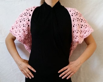 Crocheted Shrug-Pink or Black