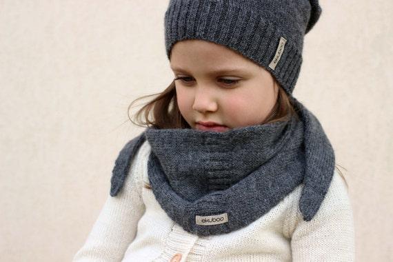 Knitted Scarf Patterns Alpaca Yarn : Alpaca knit scarf dark grey triangle scarf knitted kids baby