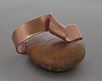 Twist copper cuff bracelet