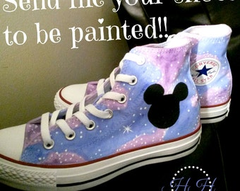Send me your shoes - Mail me your shoes - Custom painted shoes - Your shoes painted